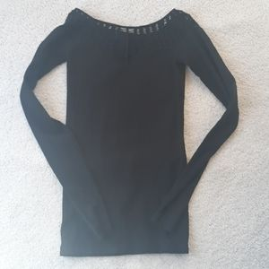 FREE PEOPLE INTIMATELY RIBBED SEXY TOP BLACK M/L